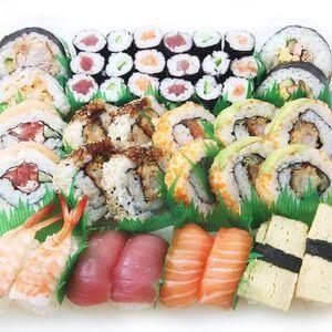 wayo delikatessen bistro karaage sushi platte on parade